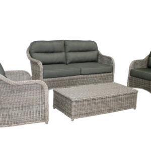 gray wicker sofa set