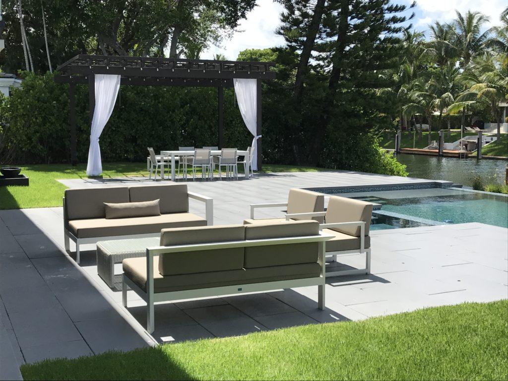 miami pool furniture sofa set