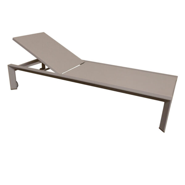 champagne taupe tan lounge chair