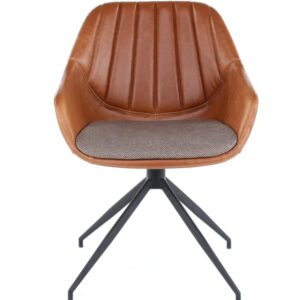 ginger leather armchair office