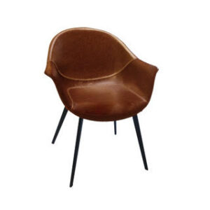 ginger faux leather armchair